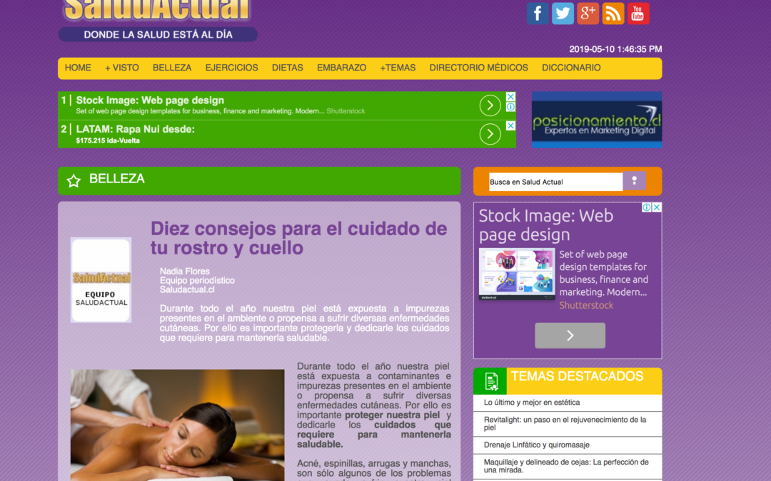 Salud Actual,artículos y reportajes de salud y cuidado personal