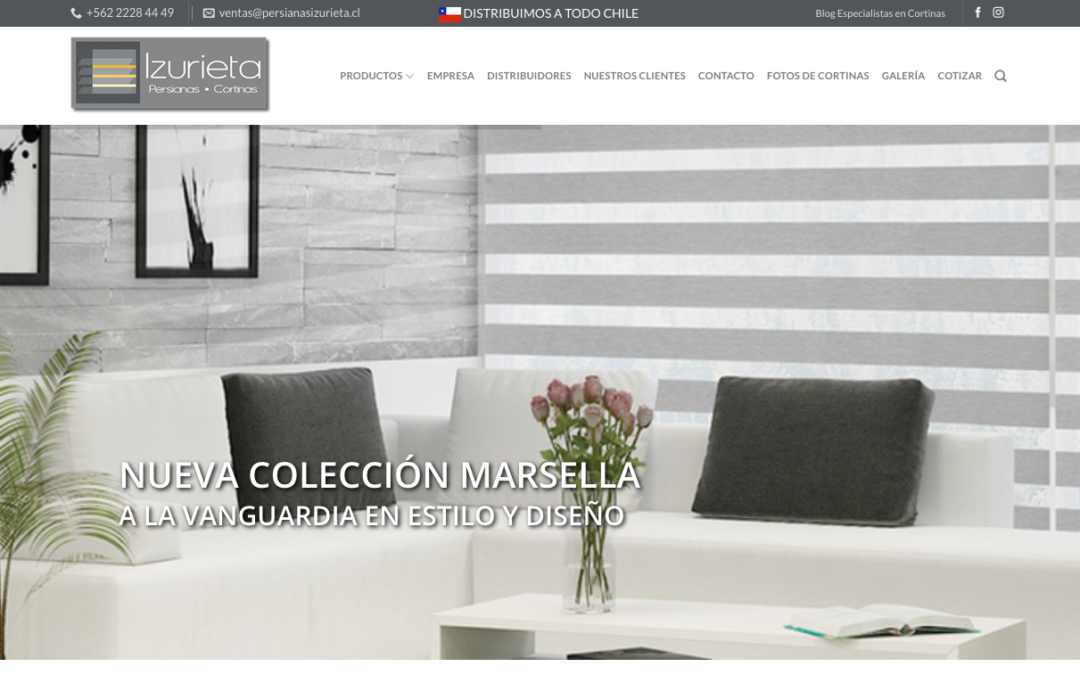 Cortinas Izurieta, Fabrica cortinas Roller en Chile