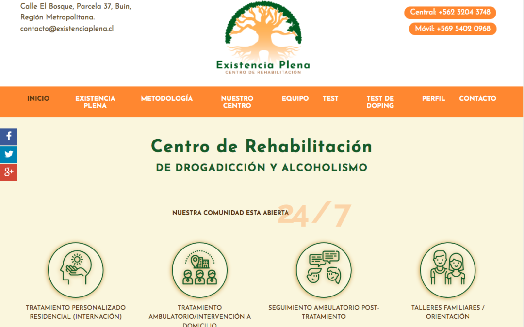 Existencia Plena, Centros Rehabilitación en Santiago
