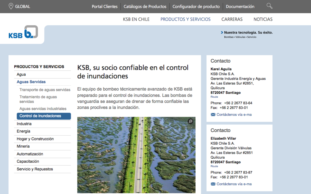 KSB, Comercializadora de Bomba para Agua Servida