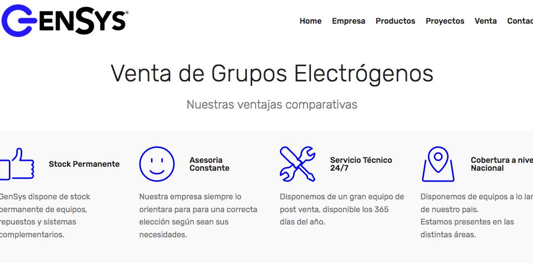 Gensys, Grupo electrógeno Perkins