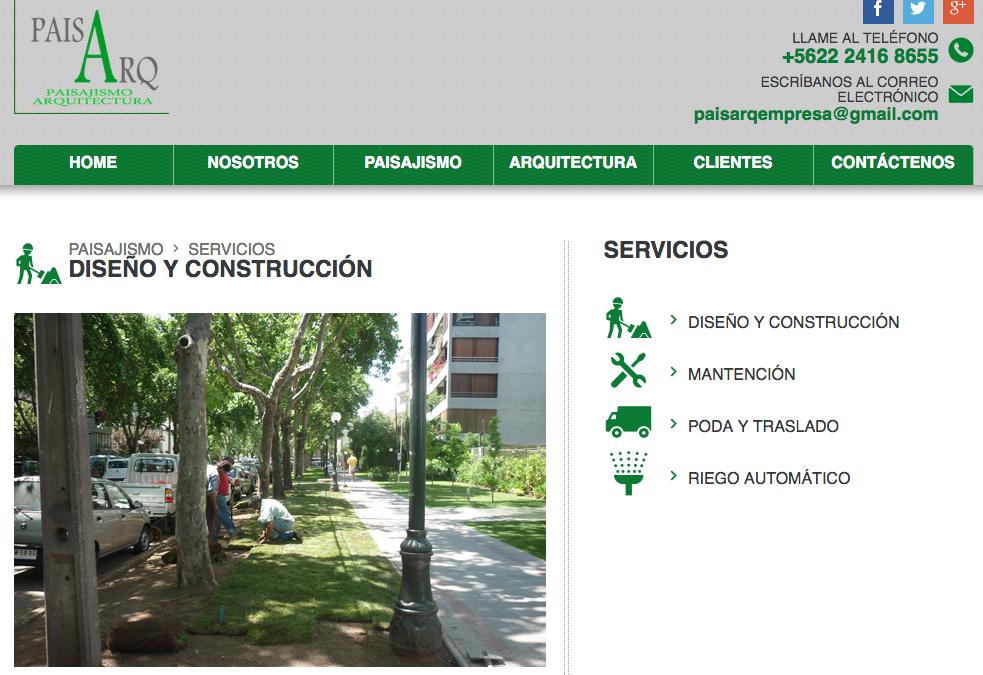 Paisajismo y Arquitectura, mantención de áreas verdes