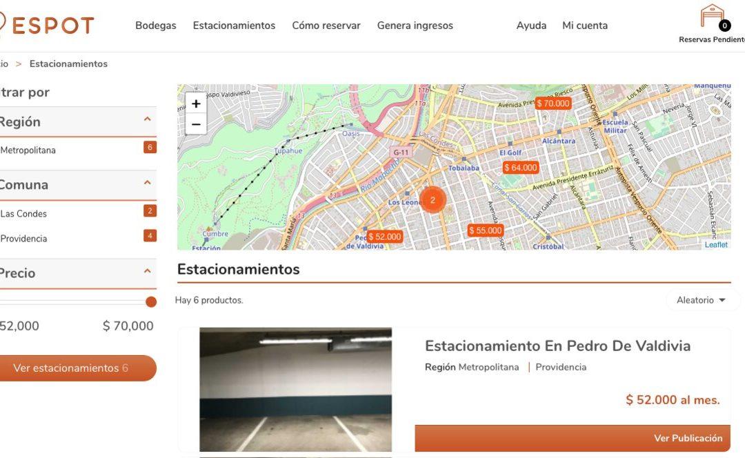 Espot, servicio de arriendo de minibodegas en Chile